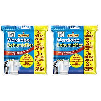 6 pack enforcamento guarda-roupa desumidificador Stop molde & absorvente de umidade úmido