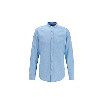 Hugo Boss Casual Hugo Boss Men's Race Open Blue Long Sleeved Shirt