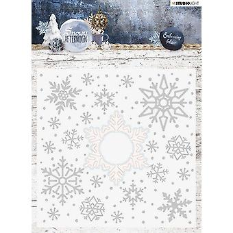 Studio Light Embossing Folder With Die Cut. Snowy Afternoon nr.02 EMBSA02