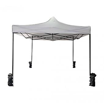 Furniture Rebecca Gazebo Resealable White 4 Weights Metal Polyester 3x3