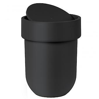 Umbra Touch afval kan met deksel zwart