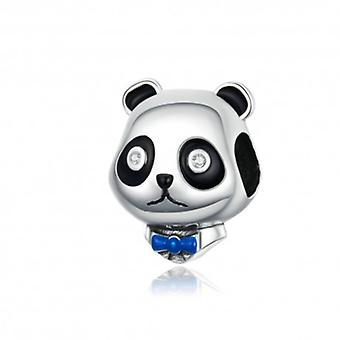 Sterling Silver Charm Black And White Panda - 6287