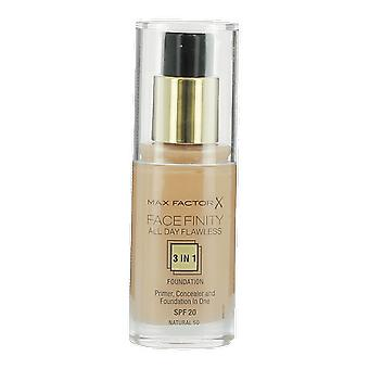 Max Factor Facefinity All Day Flawless Foundation Natural 50 30ml