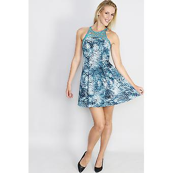 Fractured fantansy fit & flare dress