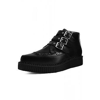 TUK Shoes Black TUKskin™ 3-Buckle Pointed Boot