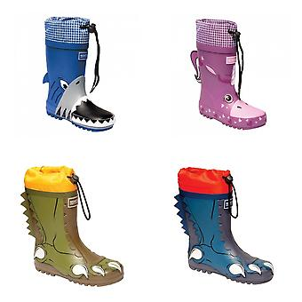 Dare 2B Childrens/Kids Mudplay Dinosaur Wellingtons