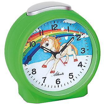 Atlanta 1981/6 Alarm clock for kids children's alarm clock unicorn green soft unicorn alarm clock