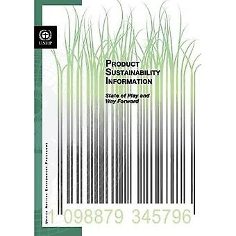 Product sustainability information: state of play and way forward