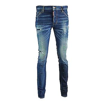 Dsquared2 Cool Guy Jean Blue Paint Effet Jeans