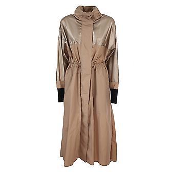 Moncler 1d70300c0471130 Women's Bronze Nylon Outerwear Jacket