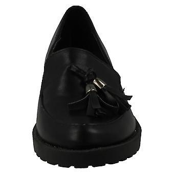 Spot på barnens flickor tofs Trim platt Loafers