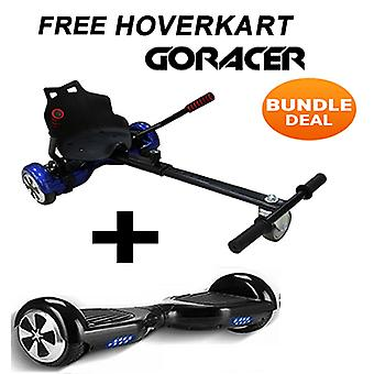 "GoRacer Hoverkart mit 6.5""Classic Bluetooth Black Hoverboard Segway"