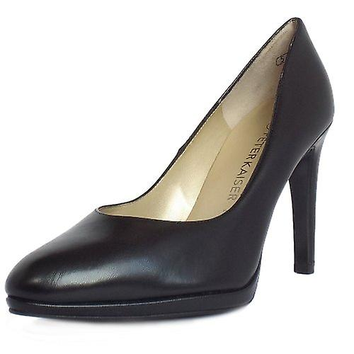 Peter Kaiser Herdi Stiletto Court Shoes In Black Leather 9bYqp