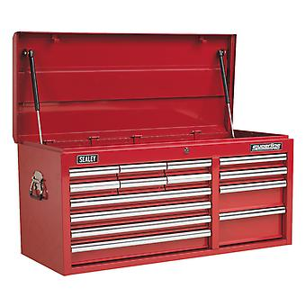 Sealey Ap41149 Topchest 14 Drawer With Ball Bearing Runners Heavy-Duty - Red