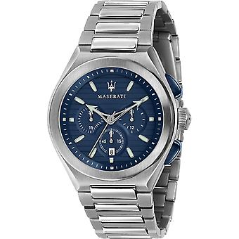 Maserati R8873639001 Men's Triconic Chronograph Blue Dial Wristwatch