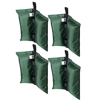 Yescom Weight Sand Bag Oxford + PU Coating for Outdoor Pop Up Canopy Instant Tent Gazebo Shelter Green (Pack of 4)