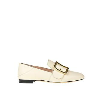 Bally Ezgl012010 Women's Beige Leather Loafers