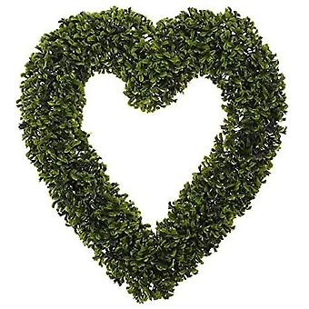 Topiary Artificial Outdoor/Indoor Heart Hanging Wreath Decoration With Chain