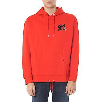 Kenzo Fa55sw5114z521 Men's Red Cotton Sweatshirt