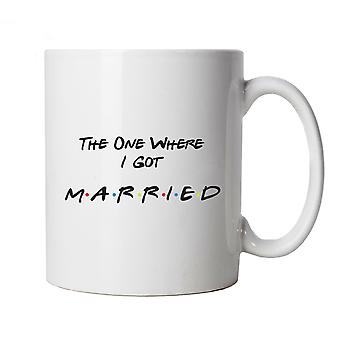The One Where I Got Married Mug Cup Gift TV Series Funny Friends Groom Bride