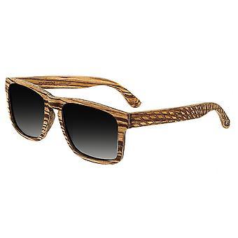 Earth Wood Whitehaven Polarized Sunglasses - Zebrawood/Black