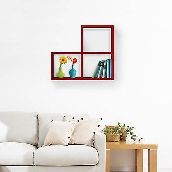 Mensola Bounce Color Rosso in Truciolare Melaminico 113x20x75 cm