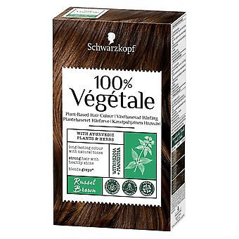 Schwarzkopf 100% Vegetale Hair Color - Russet Brown