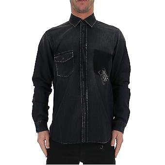 Saint Laurent 500732yk8811303 Men's Zwart Katoen shirt