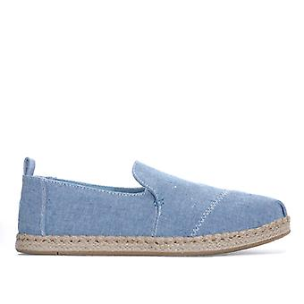 Women's Toms Chambray Deconstructed Espadrille Pumps in Blue