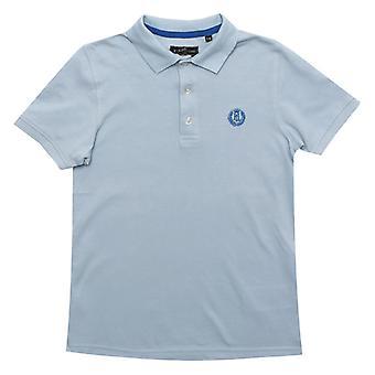 Boy's Henri Lloyd Junior Pop Collar Polo Shirt in Blauw