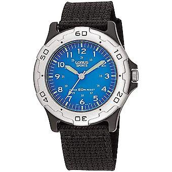 Lorus RRX91FX-9 Child's Blue Dial Fabric Strap Wristwatch