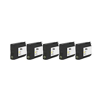 RudyTwos 5 x korvaus HP 953XL muste yksikön keltainen yhteensopiva OfficeJet Pro 7740, 8210, 8218 8710 8715, 8716, 8718, 8719, 8720, 8725, 8728, 8730, 8740
