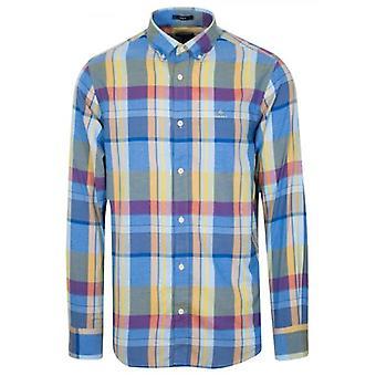 Camicia a maniche lunghe GANT Lake Blue Oxford