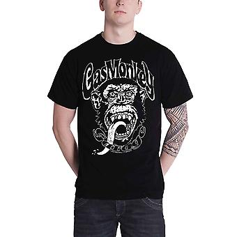 Singe de gaz Garage T Shirt GYSOT Kustom construit Logo officiel Mens nouveau noir