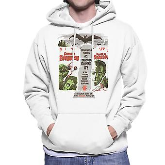 Hammer Horror Films Double Feature Frankenstein Dracula Men's Hooded Sweatshirt