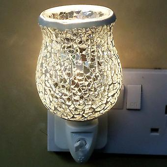 IEP Silver Crackle Tulip Mosaic Wax Warmer