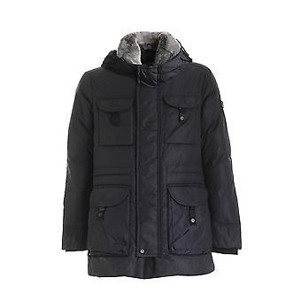 Peuterey Peu363001180357215 Men's Blue Nylon Down Jacket
