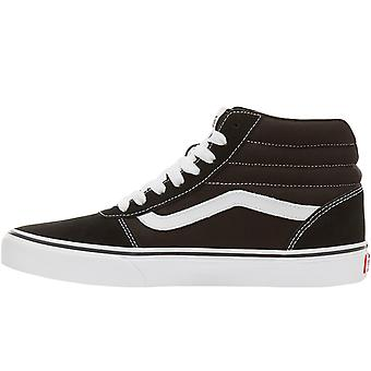 Vans Mens Ward Hi High Top Casual Suede Skater Trainers Sneakers - Black/White