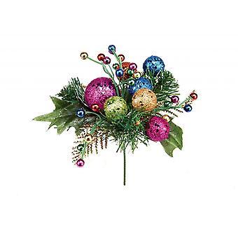 Premier Glitter Ball Pick Decoração de Natal