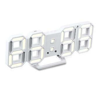Loskii hc-28 creatieve usb opladen 3d cijfers verstelbare helderheid thermometer datum weer te geven led wekker