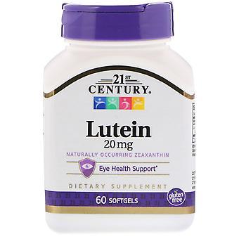 21e eeuw, Lutein, 20 mg, 60 Softgels