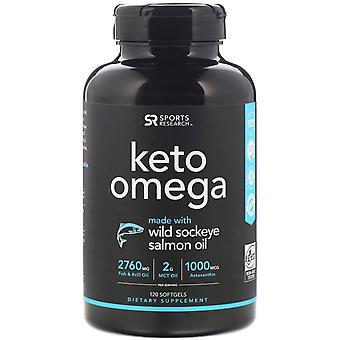 Sports Research, Keto Omega with Wild Sockeye Salmon Oil, 120 Softgels