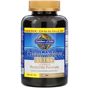 Garden of Life, Primal Defense, Ultra, Ultimate Probiotic Formula, 216 UltraZorb