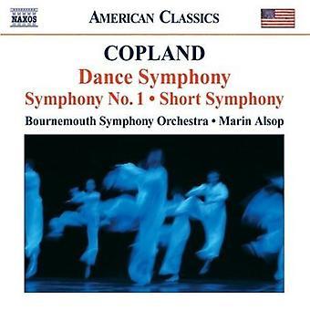 A. Copland - Copland: Dance Symphony; Symphony No. 1; Short Symphony [CD] USA import