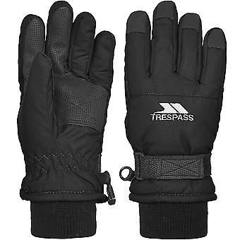 Trespass Boys Ruri II Lightly Padded Adjustable Ski Gloves