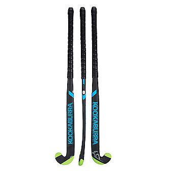 Kookaburra 2019 Team Alpha L-Bow Extreme 2.0 Field Hockey Stick Black/Blue/Green