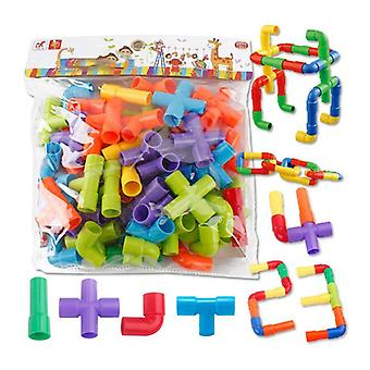 Pipes Puzzle Assemblage Interlocking Set Éducatif Tube en plastique