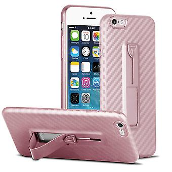 Ultra Thin Bag with Kickstand for Apple iPhone 6/6s Bling-Etui Hard-Plastic Pink