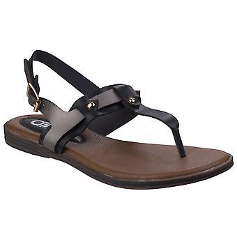 Divaz women's sabrina toe post sandal black 26333