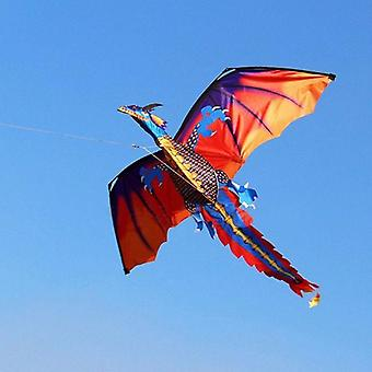 3d Dragon 100m Kite Single Line Con Tail Kites Outdoor Fun Toy Kite Famiglia Outdoor Sport Giocattolo Bambini